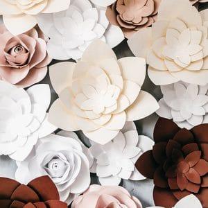 Papirnati cvjetni zid