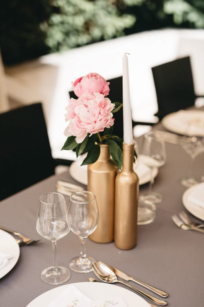 Mediteransko vjenčanje zlatni detalji
